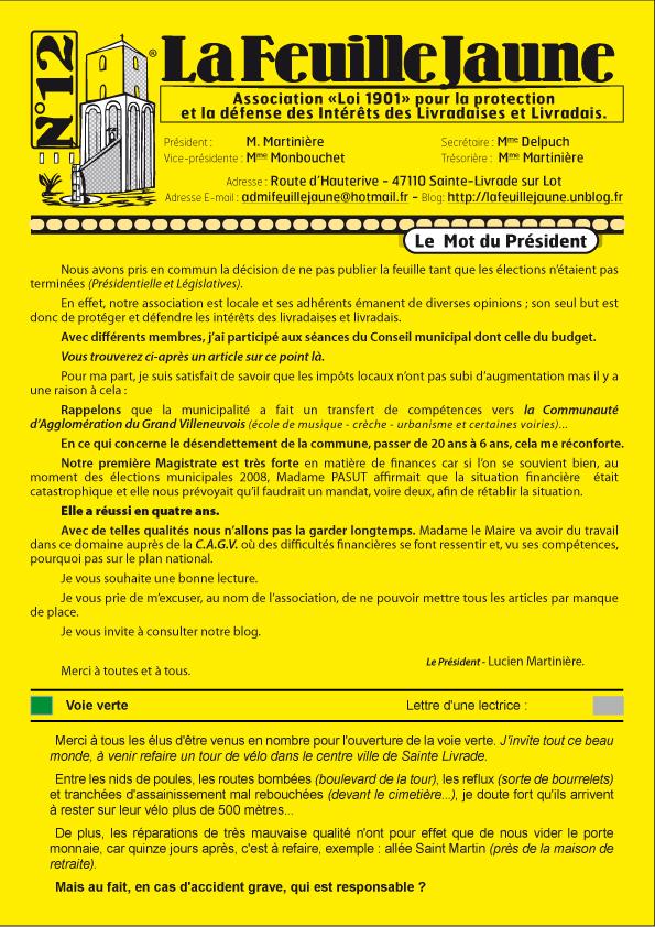 La feuille jaune n°12 1