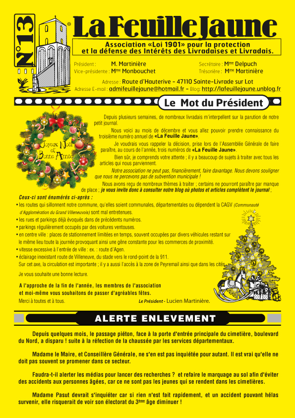 feuille jaune n.13 1